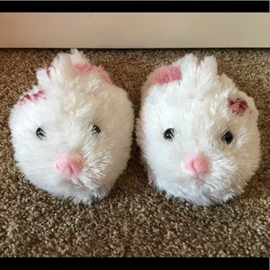 Cute fluffy bunny slippers